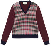 Gucci Houndstooth wool cashmere sweater