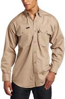 Key Apparel Men's Fire Resistant Button Down Long Sleeve Twill Shirt