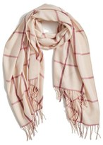 Nordstrom Women's Plaid Cashmere & Wool Scarf