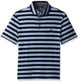 Nautica Men's Classic Fit Short Sleeve Stripe Premium Cotton Polo Shirt