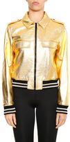 Saint Laurent Metallic Leather Jacket