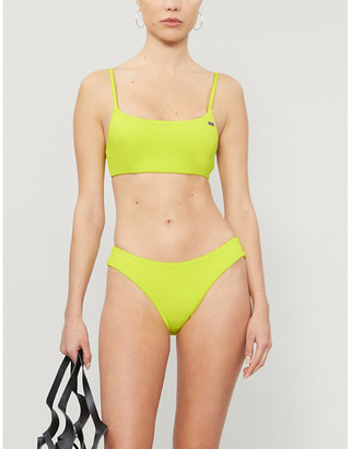 Selfridges Neon scoop-neck bikini top