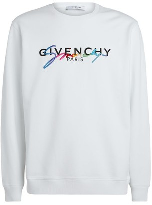 Givenchy Rainbow Signature Logo Sweatshirt