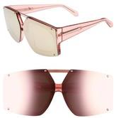 Karen Walker Women's 70Mm Mirrored Oversized Sunglasses - Crystal Brown/ Gold