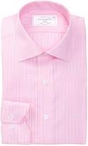 Lorenzo Uomo Box Pattern Trim Fit Perfect Dress Shirt