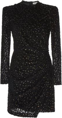 A.L.C. Jane Ruched Velvet Mini Dress