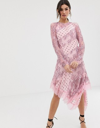 Keepsake Lace and Spot Midi Dress