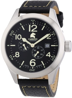 Carucci Watches Men's Automatic Watch San Severo CA2202BK with Leather Strap