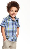 Old Navy Buffalo-Plaid Poplin Shirt for Toddler