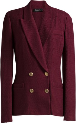 St. John Notch Collar Refined Textured Jacket