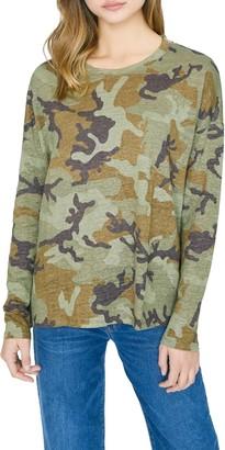 Sanctuary Carlee Camo Long Sleeve Linen T-Shirt