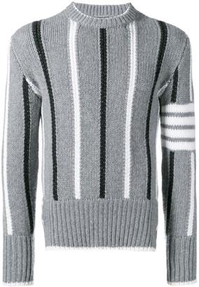 Thom Browne 4-bar Banker Stripe Pullover