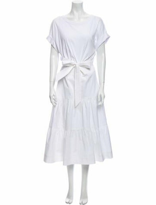 Veronica Beard Scoop Neck Long Dress White