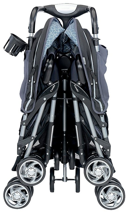 Combi Twin Sport Stroller - Graphite Scribble