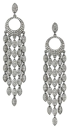 Nina Gilin 14K Yellow Gold & Diamond Chandelier Earrings