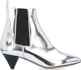 Isabel Marant Dawell silver leather boots