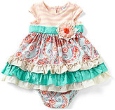 Rare Editions Counting Daisies Baby Girls 12-24 Months Mixed-Media A-Line Dress