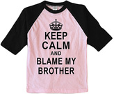 Urban Smalls Pink 'Blame My Brother' Raglan Tee - Toddler & Girls