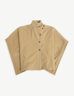 Chloé Buttoned wool and cashmere-blend cape 4-14 years