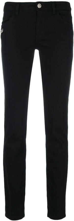 Versus safety pin detail jeans
