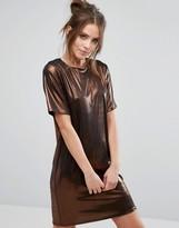 Warehouse Metallic Mini Shift Dress