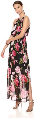 Adrianna Papell Women's Spanish Roses Maxi Dress