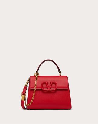 Valentino Small Vsling Grainy Calfskin Handbag Women Black Calfskin 100% OneSize