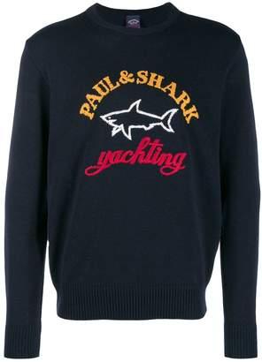 Paul & Shark logo intarsia jumper