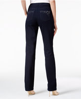 Charter Club Lexington Embellished Straight-Leg Jeans, Only at Macy's
