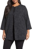 Eileen Fisher Plus Size Women's Tweedy Cotton Blend Jacket