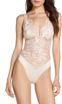 Oh La La Cheri Lyla Embroidered Lace Teddy