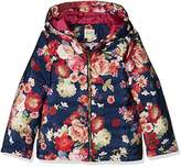 Yumi Girl's Oil Painted Floral Puffa Coat,(Manufacturer Size:9/10 Years)