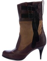 Jean Paul Gaultier Leather Buckle-Accented Ankle Boots