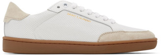 Saint Laurent White Court Classic SL 10 Sneakers