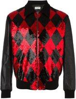 Saint Laurent sequin embellished bomber jacket
