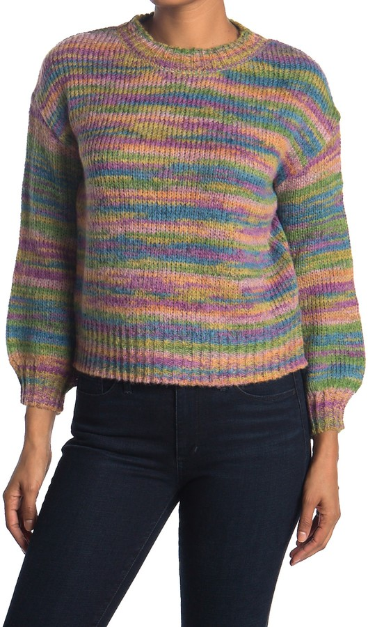 Love by Design Rainbow Knit Sweater