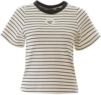 Pinko Eyelet Striped T-Shirt