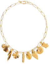 Aurelie Bidermann Aurélie Gold-plated Charm Necklace