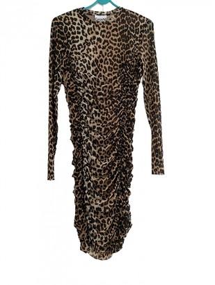 Ganni Spring Summer 2019 Camel Synthetic Dresses