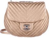 Chanel Paris-Dubai Chevron Sheepskin Messenger Flap Bag