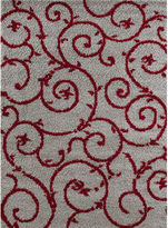 Asstd National Brand World Rug Gallery Florida Scroll Shag Rectangle Rug