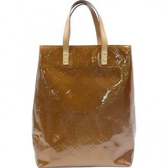 Louis Vuitton Brown Patent leather Handbags