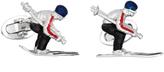 Jan Leslie Moving Skier Cufflinks