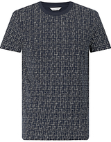 Samsoe & Samsoe Balfrin Print Cross T-shirt, Blue
