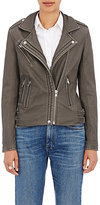 IRO Women's Han Leather Moto Jacket-GREY