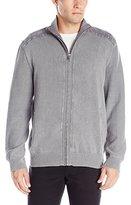 Calvin Klein Jeans Men's Fullzip Garment Dye Sweater