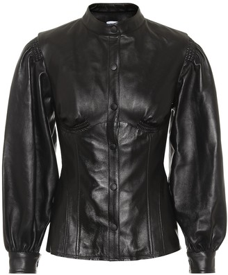 Marine Serre Leather shirt