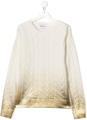 Dondup Kids TEEN cable-knit jumper