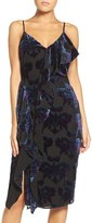 Adelyn Rae Women's Burnout Velvet Midi Dress