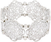 Yours Clothing Silver Filigree Stretch Bracelet